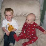 Wordless Wednesday- Lucian & Warren Together
