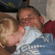 Wordless Wednesday -Napping with Daddy!