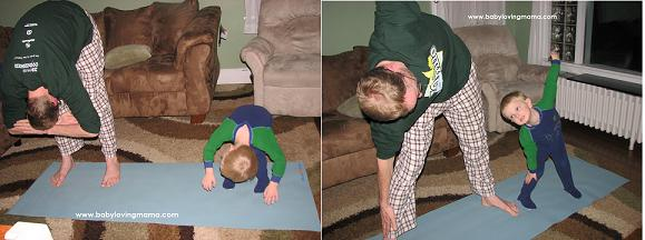 Yoga Poses with Daddy 2