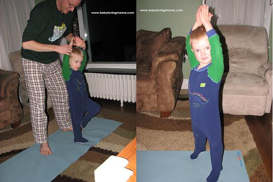 Yoga Poses with Daddy 3