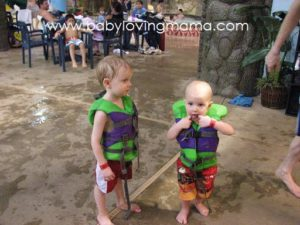 Lucian and Warren at Water Park