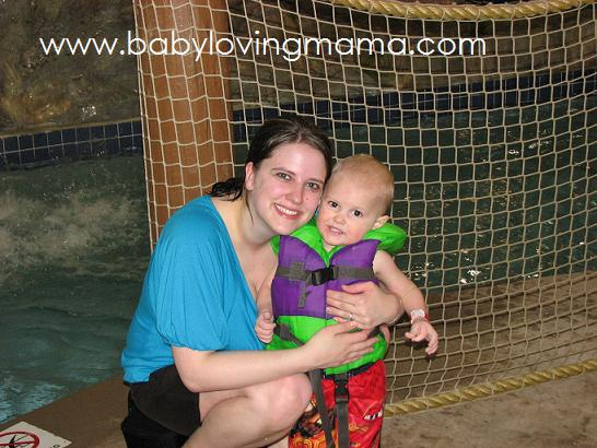 Warren and Mommy at Waterpark