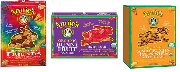 Annie's Homgrown Snack options