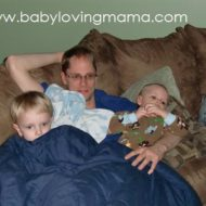Wordless Wednesday – Cuddle Time with Daddy