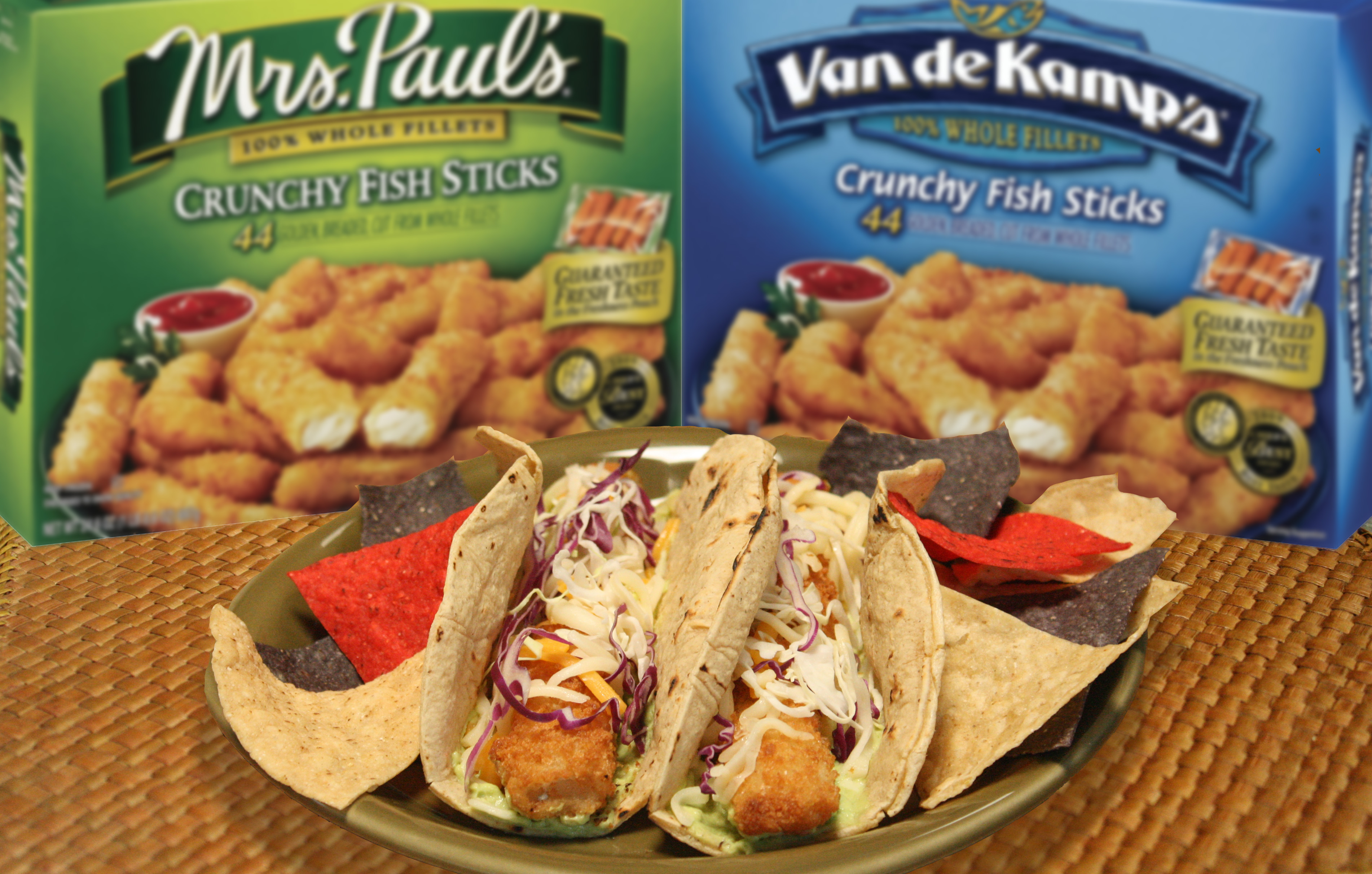 Recipes for easter lent after from van de kamp 39 s for Fish stick tacos