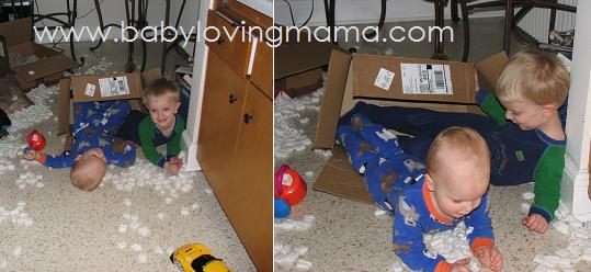 Packing Peanuts with Kids 1