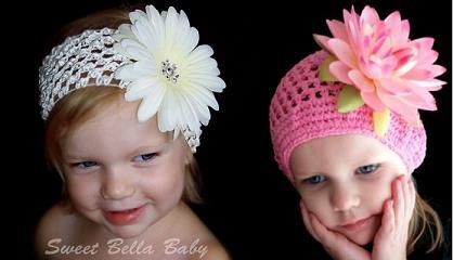 Sweet Bella Baby Headband and hat