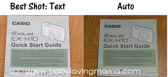 Casio BS Text vs Auto