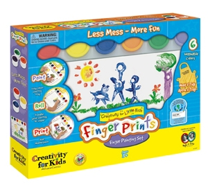 Creativity for Kids Finger Prints Finger Painting Set