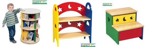Guidecraft Moon and Stars carousel shelf step up