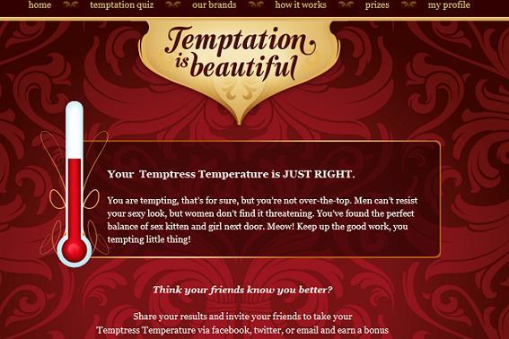 KAO Brands Temptation is Beautiful Quiz