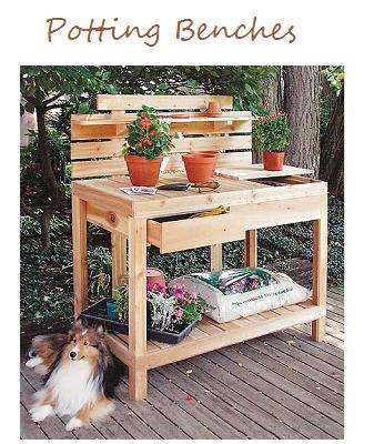 Outdoor Furniture Plus Cedar Potting Bench