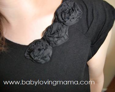 TJ Maxx Black Flower Top