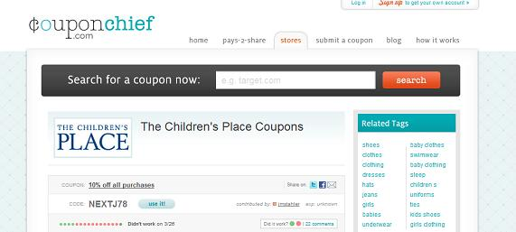 couponchief children's place