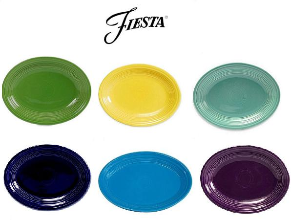 Fiestaware Platters Collage