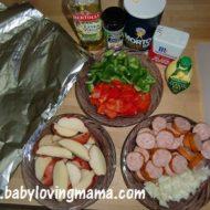Grilled Potato Sausage Foil Packs {Recipe}