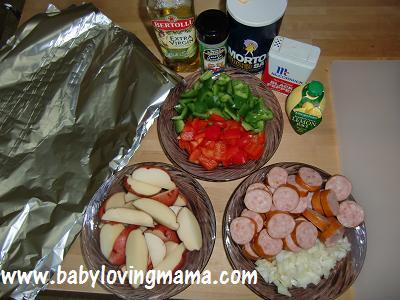 Grilled Potato Sausage Foil Pack 1