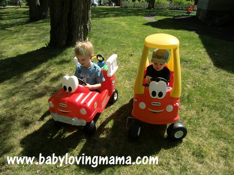 Little Tikes Fire Truck & Cozy Coupe