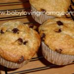 Chocolate Chip Banana Muffins {Recipe}