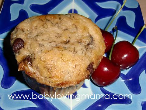 Chocolate Chip Banana Muffins 11
