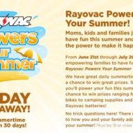 Rayovac Power Your Summer Promotion