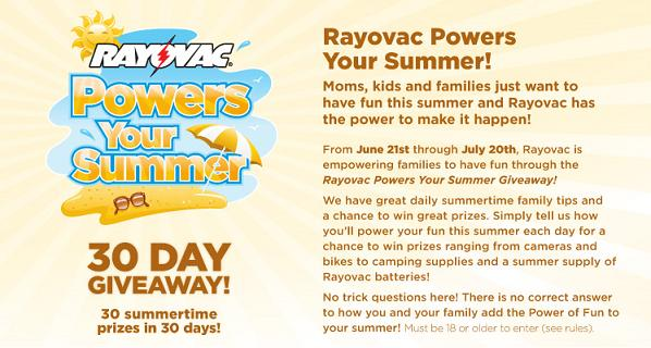 Rayovac Powers Your Summer