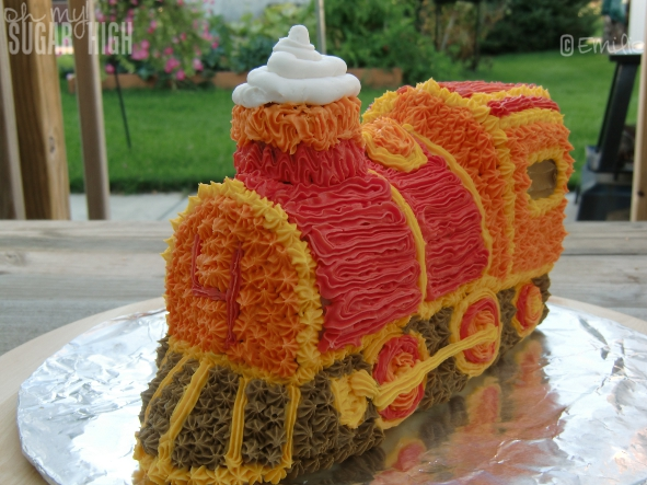 Wilton 3D Train Cake 14