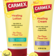 Carmex Healing Lotion & Cream: Non Greasy Skin Relief {Review & Giveaway}