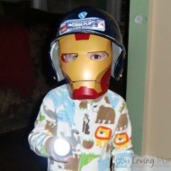 Wordless Wednesday – Ironman Plays Baseball (in the dark)