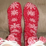 Lounging Around with Lands' End Socks {Review}