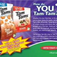What is Your Favorite Way to Tam Tam? {Crackers Giveaway}