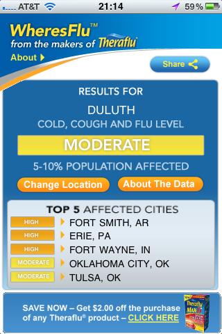 TheraFlu Flu Tracker App