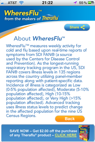 Theraflu Flu Tracker App