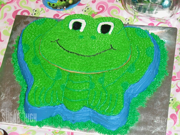 My Wilton Leap Frog Cake Was the Hit of the Party!