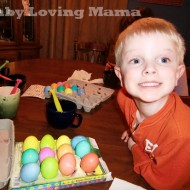 Wordless Wednesday – Coloring Easter Eggs, Of Course