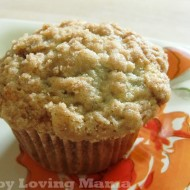 Amazing Banana Crumb Muffins {Recipe}