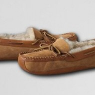 Lands' End Mens Canoe Moccasin Slippers {Holiday Gift Guide}