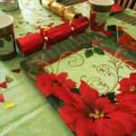Party City: Easy Decorating with the Vintage Poinsettia Party Kit {Review}