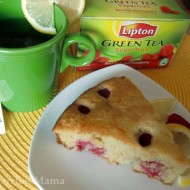 Raspberry Lemon Coffee Cake Complements Lipton Green Tea Superfruit #liptongreentea