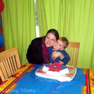 A Spiderman Cake for Warren Makes for a Very Happy 4th Birthday