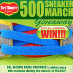 Del Monte Fresh Produce: 500 Sneaker March Giveaway on Facebook+ Wii Packages
