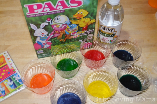 Making Bright Easter Eggs with Paas Egg Decorating Kits and Heinz