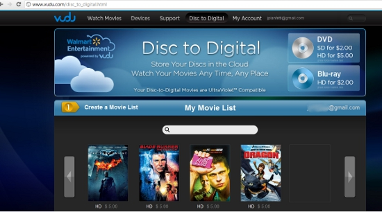 Walmart Disc to Digital with VUDU {Review and Giveaway