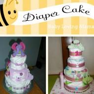 Baby Shower Gift: Homemade Diaper Cake {Craft Tutorial}