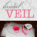 Bridal Shower No-Sew Bridal Veil Craft Tutorial