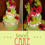 Bridal Shower Gift: Towel Cake {Craft Tutorial}