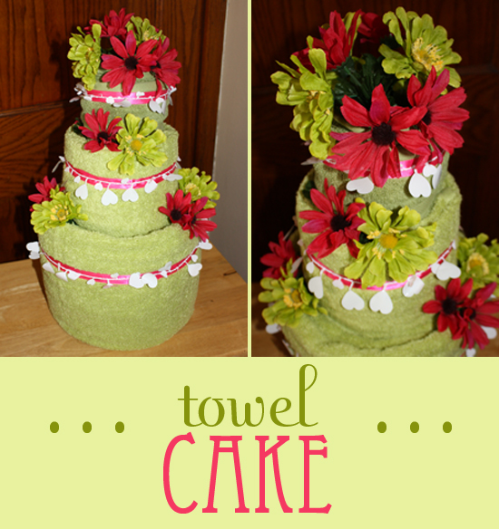 wedding cake towel instructions bridal shower gift towel cake craft tutorial finding zest 26681