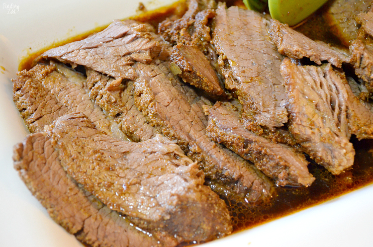 This brisket in the oven recipe is the best! You'll love how flavorful and juicy this beef brisket turns out, even though it is roasted in the oven. Cook it at at low temperature in the oven to create an amazing dinner that everyone will love!