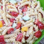 Light Salsa Ranch Pasta Salad {Recipe}