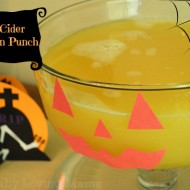 Apple Cider Halloween Punch {Recipe}